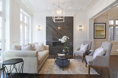 Staged and designed finished for this beautiful Lincoln Park home, love all the finishes they used!