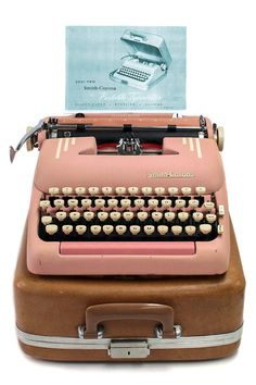 1955 Pink Smith Corona Silent Super Typewriter / Original Case / New Ribbon / Working Typwriter by Retroburgh on Etsy https://www.etsy.com/listing/222406235/1955-pink-smith-corona-silent-super