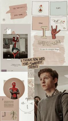 aesthetic wallpaper peter parker tom holland peterparker aesthetic wallpaper pet … – Living Wallpapers For Your Devices Tom Holland Peter Parker, Aesthetic Pastel Wallpaper, Aesthetic Wallpapers, Tom Holand, Picture Letters, Avengers Wallpaper, Aesthetic Collage, Scarlet Witch, Cute Wallpapers
