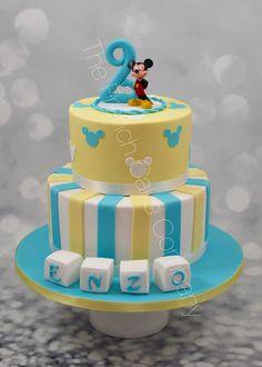 Pièce montée Anniversaire 2 ans Thème Mickey Cake Design Belgique