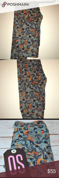 Lularoe Hummingbird Leggings- OS  BNWT - Cute Buttery Soft Hummingbird leggings - hard to find pattern. Tag came loose in bag. Never worn. One Size (2-10, per LLR). I'm not a consultant, just bought too many and clearing out my closet. (Recommended to wash inside out in cold water, delicate cycle and hang dry) LuLaRoe Pants Leggings