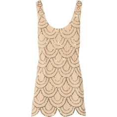 Great Gatsby Inspired - Rachel Gilbert Scala beaded silk mini dress by None, via Polyvore