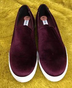 2fbbb0002a5 Steve Madden Kenzy Women s Slip On Sandal - Burgundy - Size 7  SteveMadden   Sandals. Steve Madden SneakersLadies ...
