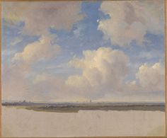 Corot to Monet National Gallery London Landscape with Cumulus Clouds Andreas Schelfhout