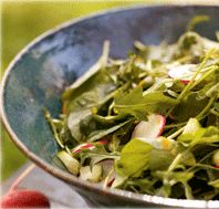 #Arugula and #Watercress Salad with Citrus Vinaigrette: You can grow watercress and arugula indoors.                                                Watercress and arugula sprout quickly and  grow well indoors.