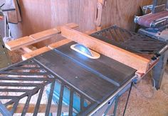 This site gives good detail on rebuilding a table saw (which could also be helpful in repairing one).  A