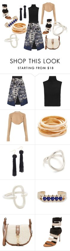 """""""Mixed up attire....!!!"""" by hillarymaguire ❤ liked on Polyvore featuring TIBI, Autumn Cashmere, palmer//harding, Kenneth Jay Lane, Vanessa Mooney, Madewell, Pamela Love, Valentino, MICHAEL Michael Kors and Sergio Rossi"""