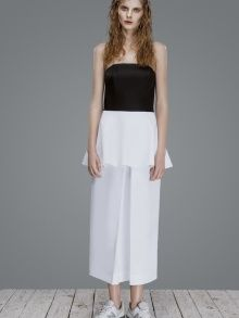 MONOCROME FOLDED-DRESS by  OMELYAATELIER | NOT JUST A LABEL