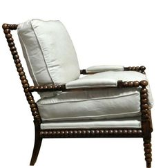 spool chair via Charlotte & Ivy, Chinoiserie Chic Spool Chair, Spindle Chair, Kitsch, Home Design Living Room, Living Rooms, Home Office Chairs, Chinoiserie Chic, French Furniture, Furniture Ideas