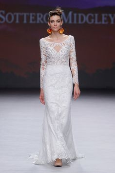 15 Gorgeous New Wedding Dresses From the Maggie Sottero Runway Strapless Lace Wedding Dress, Sheath Wedding Gown, Maggie Sottero Wedding Dresses, Wedding Dress Trends, Black Wedding Dresses, Wedding Dress Shopping, Bridal Wedding Dresses, Bridal Style, Amazing Wedding Dress