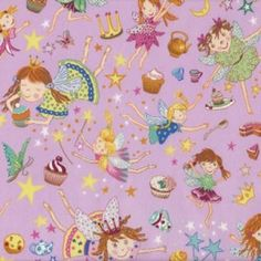Fairies Cupcakes Butterflies Quilt Fabric from Sarah J Home Decor