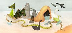 Booooooom x Poketo Afterlife Series. Illustration by Andrea Wan (Canada)