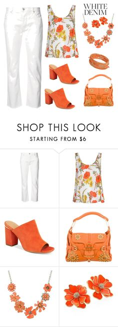 Orange And White by siriusfunbysheila1954 on Polyvore featuring Glamorous, Nili Lotan, Calvin Klein, Jimmy Choo, Kenneth Jay Lane, Dorothy Perkins and Shourouk
