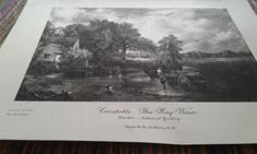 The Hay Wain by Constable by MarysCuriosityStore on Etsy Famous Pictures, Explain Why, Need To Know, Journal, Prints, Journal Entries, Journals