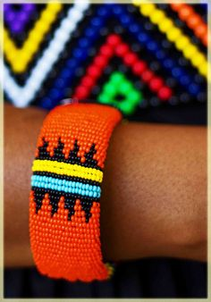 Colourful South African beadwork