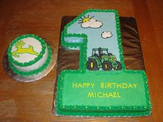 First birthday john deere cake