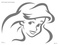 The+Little+Mermaid+Ariel+Pumpkin+Carving+Stencil+Disney+Princess+Carving+Stencil.jpg 1,178×905 pixels