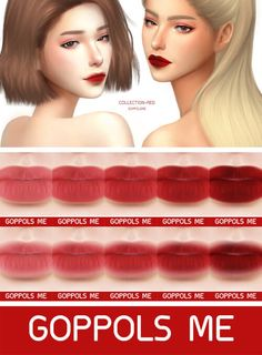 GPME Collection-Red Matte for The Sims 4