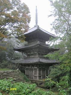 摠見寺三重塔(Souken-ji 3-storied Pagoda, Important Cultural Property in Azuchi, Shiga)
