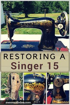 In this post, I'll show you how to restore, clean, and use your Singer 15 sewing machine, one of the most iconic sewing machines Singer ever made.