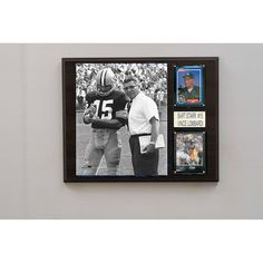 NFL 12in x15in Bart Starr & Vince Lombardi Green Bay Packers Player Pl