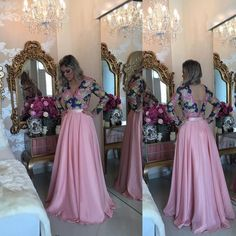 Barbara Melo :: How Loved Prom Dresses With Sleeves, Bridesmaid Dresses, Wedding Dresses, Party Dresses, Outfit Vestidos, Fiesta Dress, Formal Evening Dresses, Evening Party, Chiffon Dress