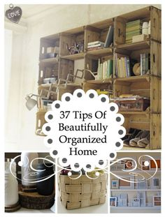 diy home office organization ideas | 37 Tips Of Beautifully Organized Home • MY DIY CHAT • DIY Projects ...