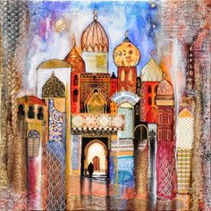 Arabian Art, Moroccan Art, Mobile Art, Art Pictures, Photos, Islamic Art Calligraphy, Art Lessons, New Art, Watercolor Art