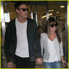 Lea Michele and Cory Monteith land at JFK June 17th 2013