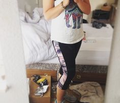 Got changed at Georgia's before the gym...she noticed I have like 10000 elephant tops