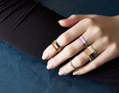 Hexagon Rings | 27 DIY Jewelry Projects That Are Actually Easy