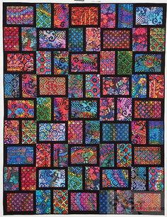 Bright & Bold Cozy Modern Quilts | Flickr - Photo Sharing!  This for those Old Style batik's in the bin?