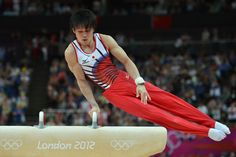 mens gymnastics - Second after appeal: Kohei Uchimura competes on the pommel horse in the men's all (4928×3280)