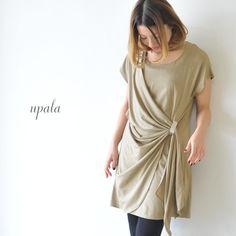 【楽天市場】upala ウパラ ウエストドレープ ワンピース・239a-1305(全3色)(M)【2013秋冬】:Crouka(クローカ)