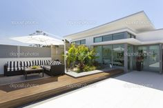 Penthouse balcony - Stock Image: 21966031
