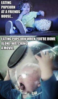 bahaha popcorn! #funny