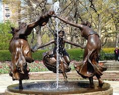 THREE DANCING MAIDENS Sculpture, Untermyer Fountain, Conservatory Gardens, Central Park, New York City