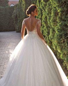 27 Stunning Trend: Tattoo Effect Wedding Dresses ❤ tattoo effect wedding dresses ball gown with illusion sleeves country annasposagroup #weddingforward #wedding #bride