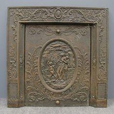 Antique Victorian Figural Nouveau Cast Iron Fireplace Surround ...