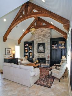 In my next life, I will have wooden beams somewhere in my house ...