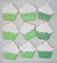 St. Patrick's Day Cupcake Cookies By spaylor on CakeCentral.com