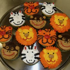Cupcakes I Had Done For Jungle Baby Shower