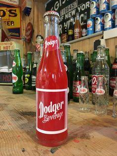 Vintage Dodger beverage soda bottle full