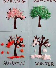 Such a cute 4 seasons activity for Kindergarten or preschool! Such a cute 4 seasons activity for Kindergarten or preschool!