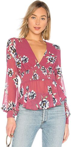 Shop for Privacy Please Tara Top in Red Violet at REVOLVE. Free day shipping and returns, 30 day price match guarantee. Stitch Fit, Fall Fashion Trends, Fall Trends, Fashion Seasons, Kpop Outfits, Big Fashion, Red Blouses, Fall Wardrobe, Cute Tops