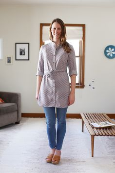 Lisette in Cotton + Steel rayon collection 'Frock'