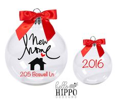 Realtor gift to clients New Home Christmas Ornament Personalized