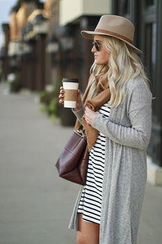 Fall Staple: Striped T-Shirt Dress - Katalina Girl