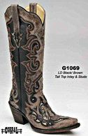 Corral Black/Brown Tall Inlay and Studs G1069 Picture