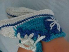 tenis all star crochetsruth costa ...com ilhos ...eu que fiz..